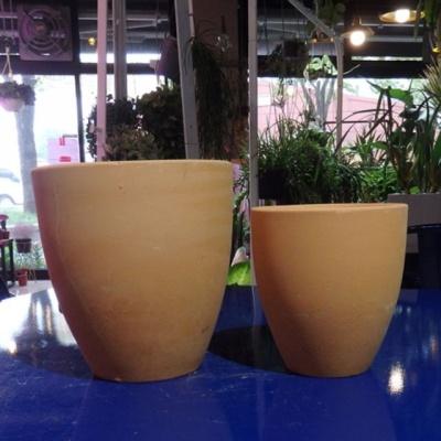 황토빛 미분(중) 15x16cm 토분(갈색화분)