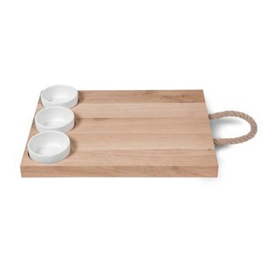 [Garden trading]Tapas Board in Beech with 3 Ceramic Pots TBBE01 다용도판