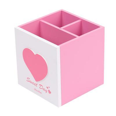 연필통 스위트데이 하트펜꽂이(WD207 pink3칸)