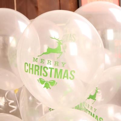 크리스마스풍선30cm - 루돌프(투명)
