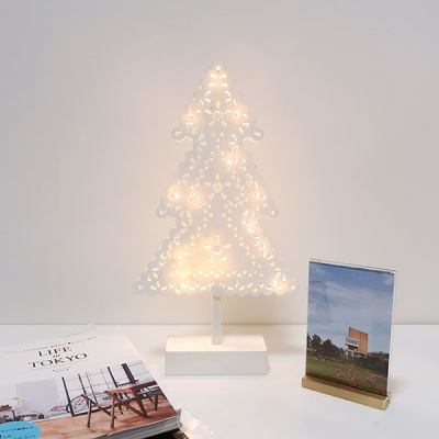 화이트 크리스마스트리 LED램프