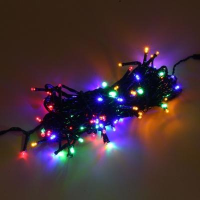 [은하수] 100구 녹색선 LED 칼라 지니전구(10M) (전원