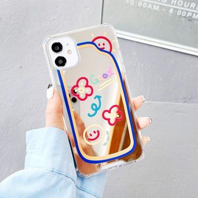 아이폰 x xs max xr 스마일 미러 투명 젤리 스키니