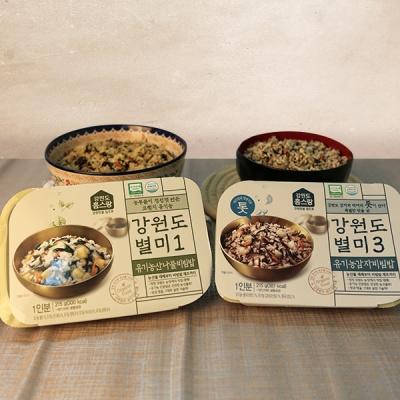 강원도 유기농 감자비빔밥210g+산나물비빔밥210g