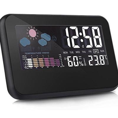와이드 LED 날씨 탁상시계 날짜시계 온도시계 알람