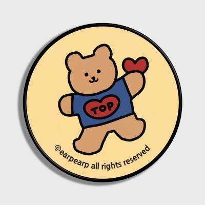 Bear heart-Creamyellow(스마트톡)