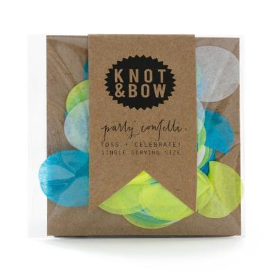 블루 그린 원형 컨페티 소 KNOT&BOW Confetti