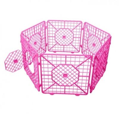 펫츠코 캐슬(울타리) 도어형 대 6p-핑크