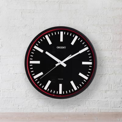 오리엔트 무소음 OT725C 레드서클 인테리어벽시계