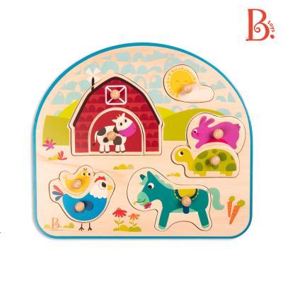 [브랜드B] 동물농장퍼즐친구들 꼭지퍼즐 원목퍼즐