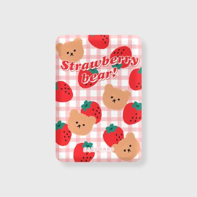 Big strawberry bear-pink(무선충전보조배터리)