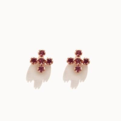 제이로렌 M03454 로돌나이트 십자 귀걸이