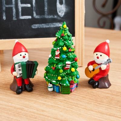 크리스마스 트리 산타2인 악단 피규어