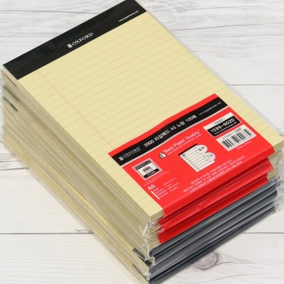 옥스포드 A5 100매×10권 대용량 리갈패드 LP100A5-Y