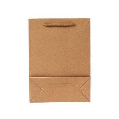무지 세로형 쇼핑백(브라운)(13x19cm)