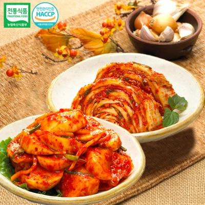 [명가김치] 국내산 맛김치 3kg+석박지 3kg