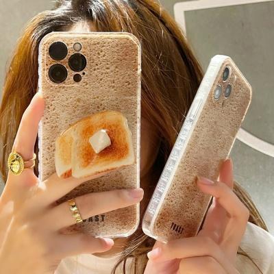 아이폰12 11 PRO MAX XS 8 식빵 토스트 그립톡 케이스