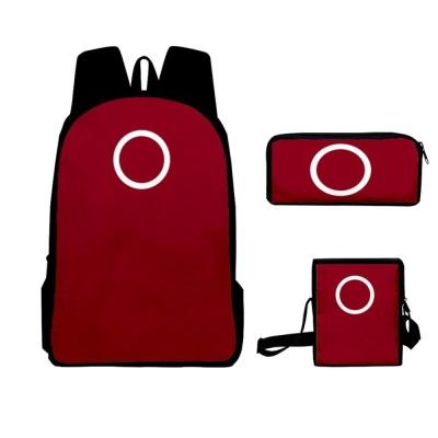 오징어게임 일꾼 병정 참가자 넷플 가방 파우치 3in1