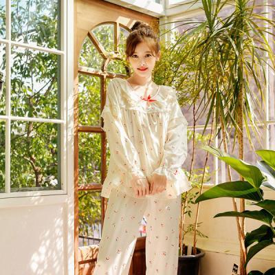 [쿠비카]러블리 피치 망사레이스 투피스 여성잠옷W365
