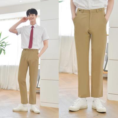 [하복][허리조절] 스판 베이지 교복바지(남자)