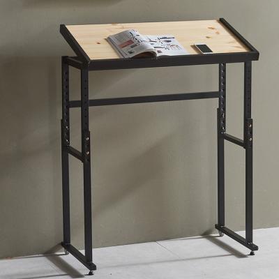 심플라인 철제 원목 테이블 840