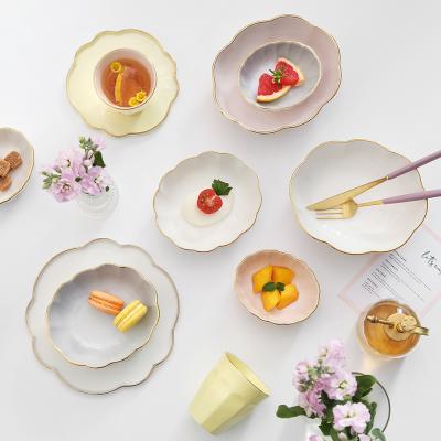 [J TABLE]카멜리아 24K골드 보울 접시