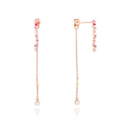로즈 핑크 실버 귀걸이 OTE117522QPP