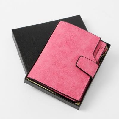 카드수납 여성 반지갑(핑크)