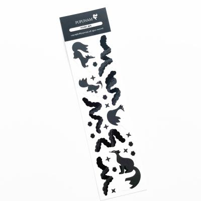 푸푸남 여우페티 블랙 씰스티커