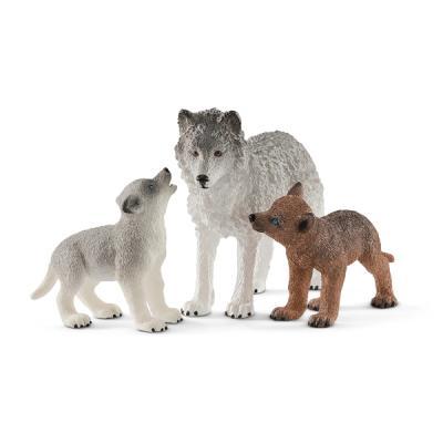 [슐라이히]어미 늑대와 새끼 늑대