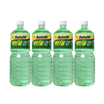 불스원 레인OK 에탄올 그린워셔액 4P (+세차타월3P)