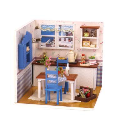 DIY 미니어처하우스 블루 데코룸