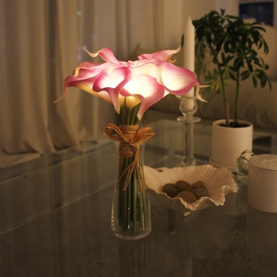 뉴배터리 퍼플 카라 부케 LED 무드등