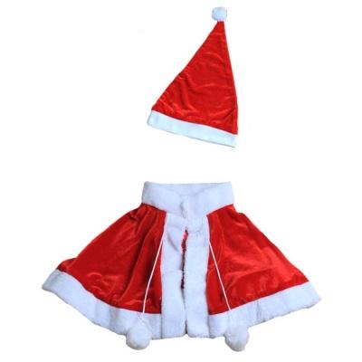 크리스마스 망토 모자 세트
