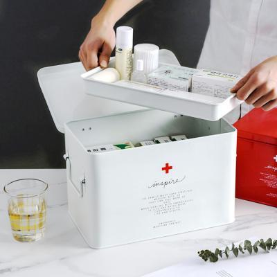 메탈 구급 약통 약상자 보관함 상자 케이스 (대)