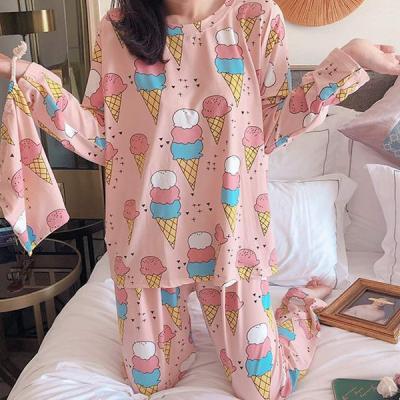 하든 긴팔 아이스크림 여성잠옷 홈웨어 파자마세트