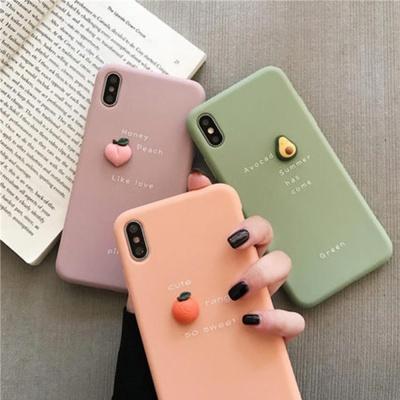 아이폰11 프로 맥스 X 7 8플러스 과일 실리콘 케이스