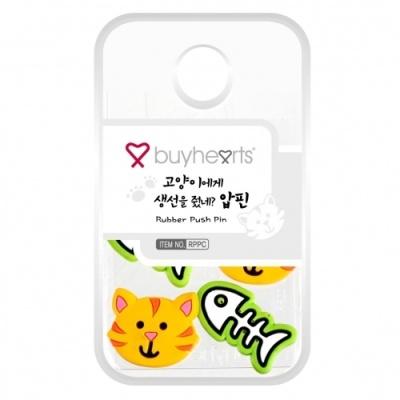 [바이하츠] 고양이생선압핀 [개/1] 352789