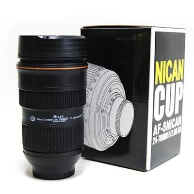 유니크 특이한 카메라 렌즈 모양 AF 스텐 텀블러