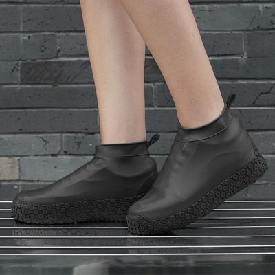 실리콘 방수 신발커버(180~220mm) (블랙)