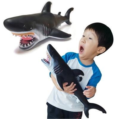 소프트 해양 (대) 백상아리 상어 모형 피규어 교육용