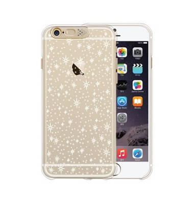 iPhone 6  Clear shield Gold (galaxy)