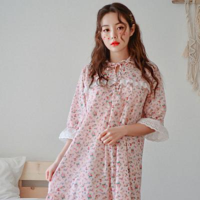 [쿠비카]플라워 프린팅 요루면 원피스 여성잠옷 WM156