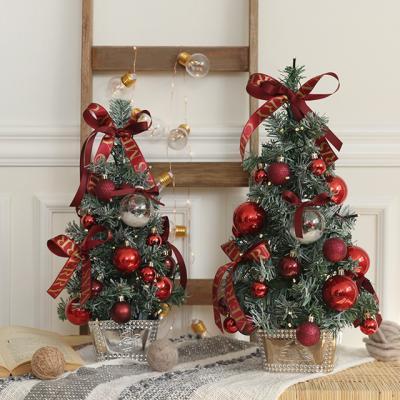 딥레드와인 크리스마스트리+전구풀세트 [2size]