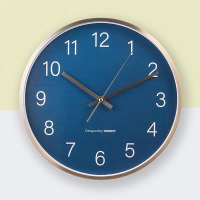 오리엔트 무소음 OT863 골드 프레임 인테리어벽시계