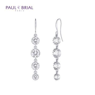 폴브리알 PPBE0059 크리스탈 도트 귀걸이