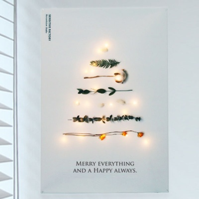 [LED Light증정] 크리스마스 트리 패브릭 포스터