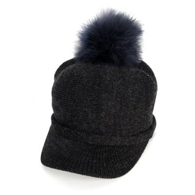 [디꾸보]방한 니트 방울 캡 모자 AC486