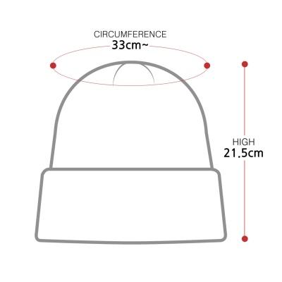 [디꾸보]골지 넘버 레터포인트 패치 비니모자 AC503