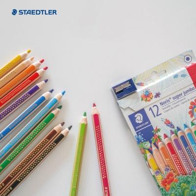 스테들러 코끼리 점보색연필 12색세트 연필깎이 증정